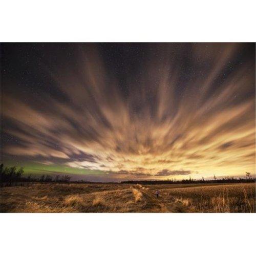 Night Sky with Aurora Borealis - Thunder Bay Ontario Canada Poster Print by Susan Dykstra, 36 x 24 - Large