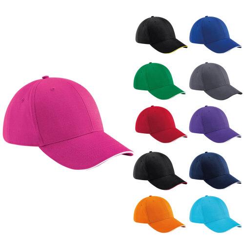 Beechfield Unisex Athleisure Curved Peak Adjustable Baseball Cap Snapback Hat