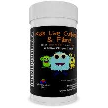 Intelligent Labs Kids Live Cultures and Fiber 6 Billion CFU Probiotics