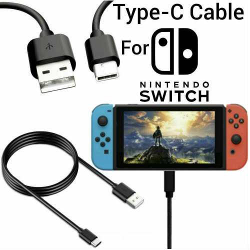 USB Charging Charger Cable 3M Long Lead for Nintendo Switch UK  Black