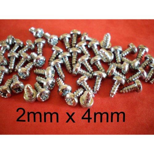 2mm X 4mm SELF TAPPING SCREWS 50pcs Pozi Pan Head