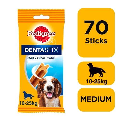 PEDIGREE DentaStix Daily Dental Chews Medium Dog 7 Sticks (Pack Of 10)