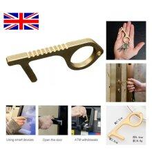 Contactless Hygiene Antimicrobial Brass EDC Door Elevator Handle Key