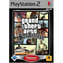 Grand Theft Auto : San Andreas Platinum(PS2) - Used