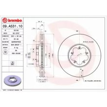 Front Pair (2x) of Brake Disc BREMBO 09.A531.10