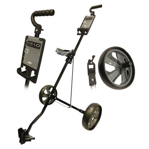 Glide Tek 1.0 Push Steel Golf Trolley Gunmetal/Black