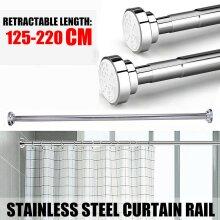 125-220cm Extendable Telescopic Shower Curtain Rail Pole Rod