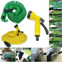 New Extra Long Retractable Expandable Garden Hose Water Pipe & Spray Gun Nozzle