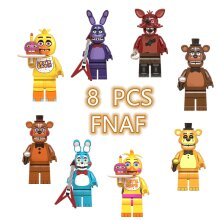 8Pcs FNAF Five Nights At Freddy's Minifigures Building Toys Fit Lego
