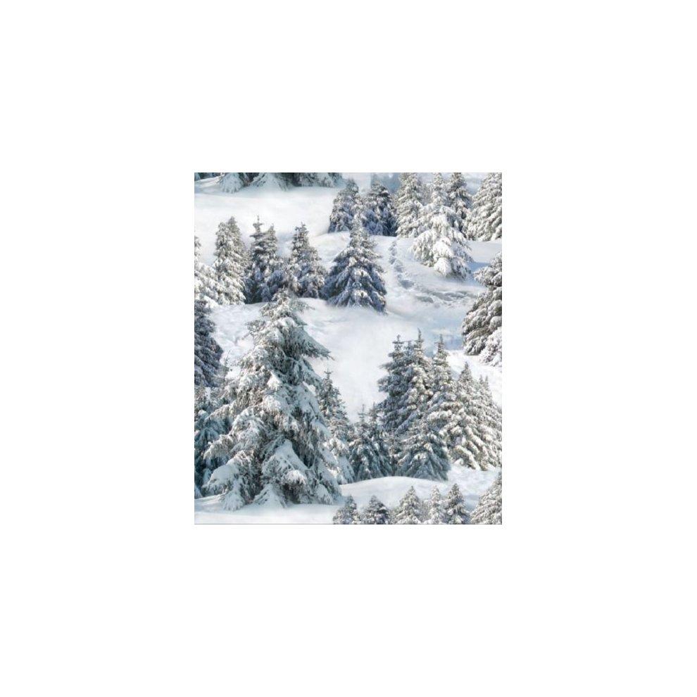 Fat Quarter Snowy Forest Trees Cotton Quilting Fabric Elizabeths Studio 215