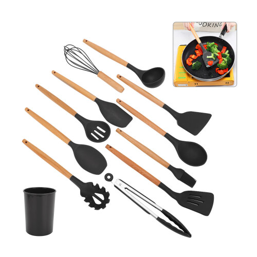 Silicone cooking utensils and kitchenware set non-stick cooking tools