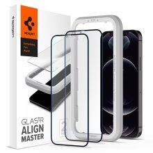 iPhone 12 Pro Max Screen Protector, Spigen AlignMaster FC HD - Black