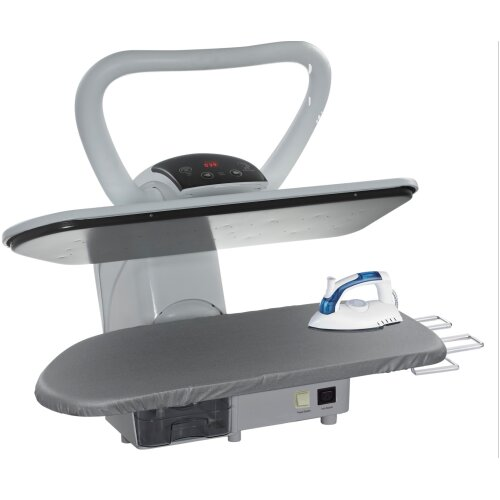 Professional Steam Ironing Press Heavy Duty + Stand by Speedypress (+ FREE Iron Attachment, Anti-Scale Water Filter, Replacement Cover&Foam Underfelt)
