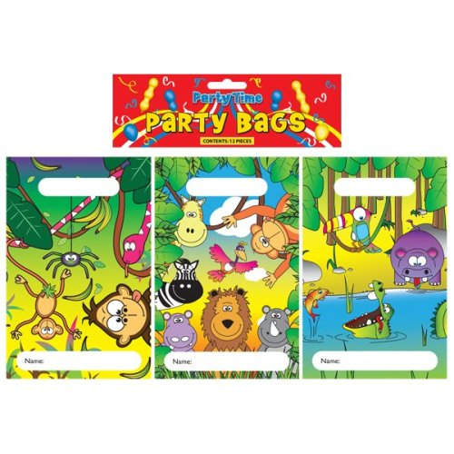 12 Jungle Empty Party Bags