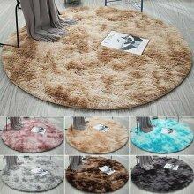 Circle Round Shaggy Blush Rugs Anti-Skid Living Room Carpet Floor Mat