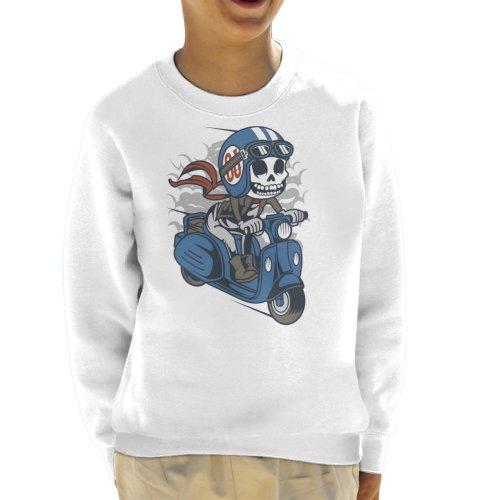 Skull Scooter Kid's Sweatshirt