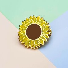 Mystery Pins Sunflower Pin Badge