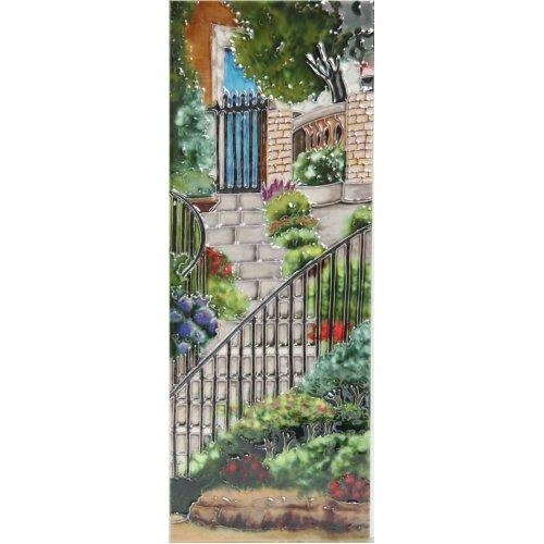 "YH Arts Ceramic Wall Art, Garden Steps, Design 2 6 x 16"""