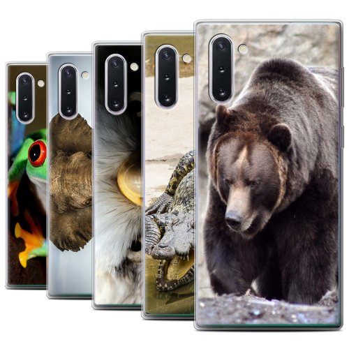 Wildlife Animals Samsung Galaxy Note 10/5G Phone Case Transparent Clear Ultra Soft Flexi Silicone Gel/TPU Bumper Cover for Samsung Galaxy Note 10/5G