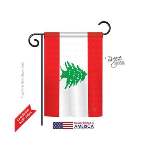 Breeze Decor 58243 Lebanon 2-Sided Impression Garden Flag - 13 x 18.5 in.