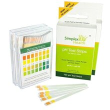 [Double Pack 200 Strips] Simplex Health pH Test Strips pH 4.5 - pH 9.0 for Urine and Saliva with Dual Pad