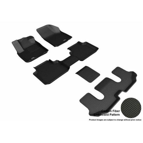 3D MAXpider L1VW08801509 Kagu R1 R2 R3 Floor Mat for 2018 Volkswagen Atlas - Black, 2 Piece