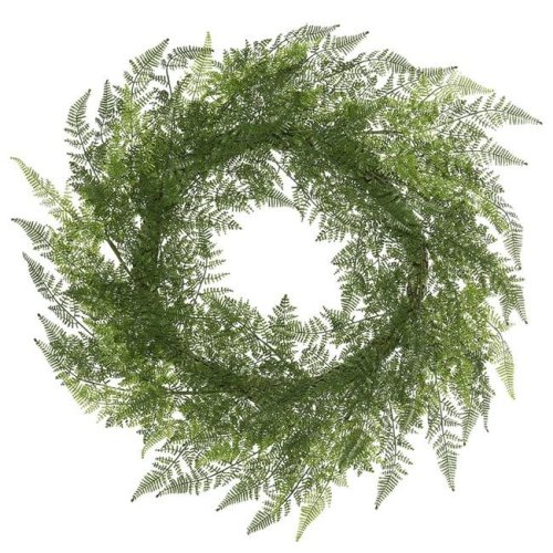 30 in. Green Lace Fern Wreath