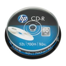 HP CD-R 52X 700MB Spindle Pack of 10 69308 HP69308