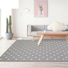 Grey Interlocking Kids Playroom Mat