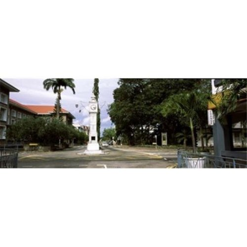 Clock tower in a city  Victoria  Mahe Island  Seychelles Poster Print by  - 36 x 12