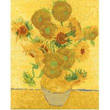 "DMC Counted Cross Stitch Kit 11.5""X14.5""-Van Gogh Sunflowers (14 Count)"