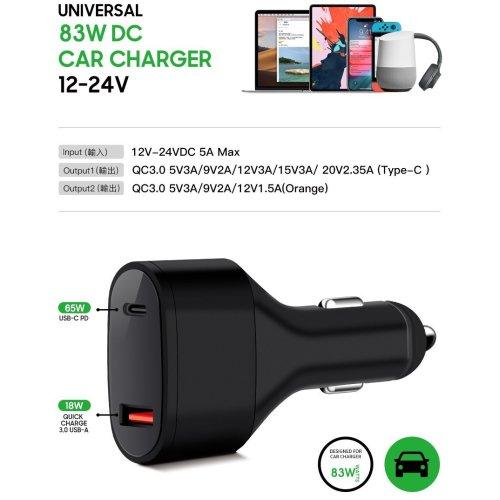 MicroBattery MBXUSBC-DC0003 USB-C Car Charger/ Adapter MBXUSBC-DC0003