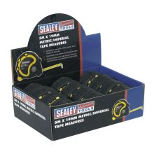 Sealey AK98912 5mtr(16ft) x 19mm Metric/Imperial Measuring Tape Display Box of 12