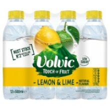 Volvic Touch of Fruit Lemon & Lime Natural Flavoured Water 12 x 500ml (12 x 500ml)