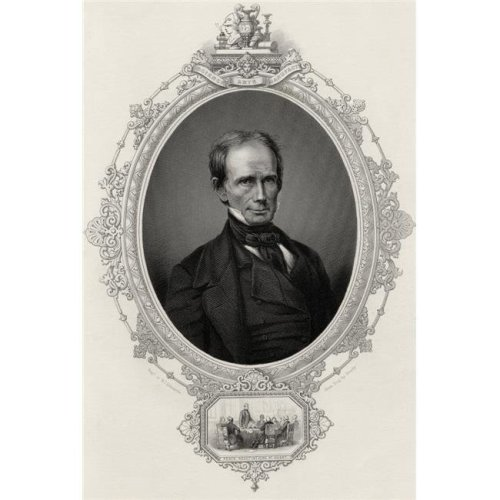 Henry Clay 1777-1852 American Statesman & Orator Engraved by W J Edwards From A Daguerreotype by Brady Print, 11 x 17