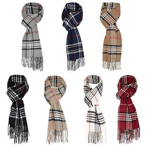 LOTMART SG-001 Unisex Wool Blend Tartan Scarf | Neck Scarf