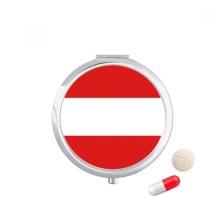 Austria National Flag Europe Country Pill Case Pocket Medicine Storage Box Container Dispenser