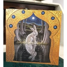 The Forest Pool Greetings card by Hannah Willow