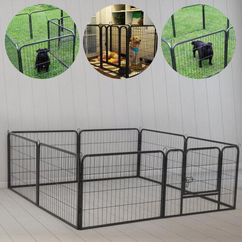 Puppy Rabbit Metal Playpen Run Indoor/Outdoor Cage & Mat Pet Playpen