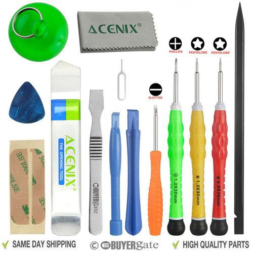 ACENIX® Most Complete Premium Repair Tool Kit for Apple iPhone 4 5 6 7 Samsung