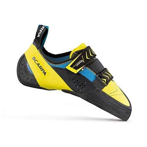Scarpa Men's Vapor V Climbing Shoes, Ocean-Yellow FR, 3 UK