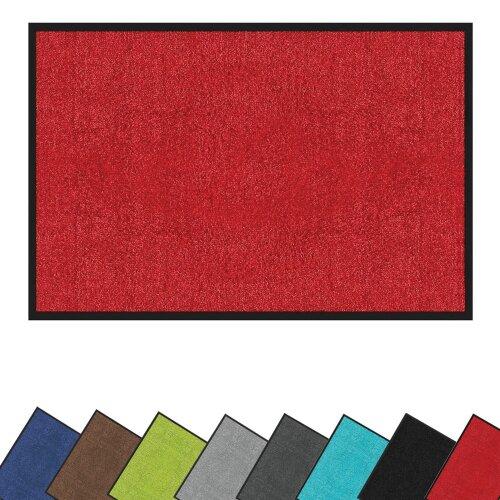 (Red, 40cm x 60cm) Door Mat Non-Slip Entrance Barrier Matting Rug