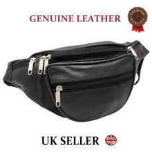 ODS Real Leather Bum Waist Bag Travel Holiday Money Belt Pouch Change