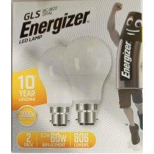 4 x Energizer LED LAMP BC/B22 Bulbs Warm White 3000K 8.2W replace 60W