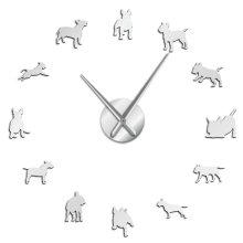 Bull Terrier Dog Wall Art DIY Wall Clock