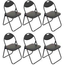 6pk Harbour Housewares Black Folding Desk Chair