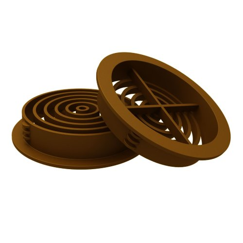 50 x  Golden Oak, Tan Plastic 70mm Round Soffit Air Vents, Push in Roof Disc