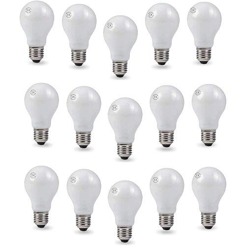 AcornSolution 60W Pearl Light Bulbs A55 Lamp Edison Screw Cap E27(20 Pack)