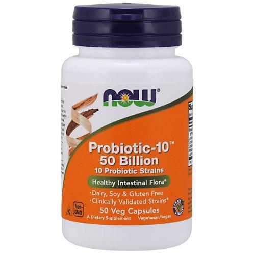 NOW Foods  Probiotic-10 , 50 Billion - 50 vcaps