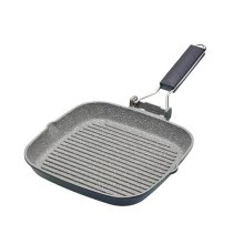 """MasterClass Non-Stick Induction-Safe Griddle Pan with Folding Handle, 20 cm (8"""")"""